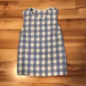 Gingham J.Crew Blouse